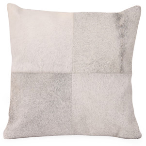 BURRO Grey Cow Hide Pillow
