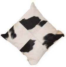 KUH Black&White Cow Hide PillowKUH Square Black&White Cow Hide Pillow
