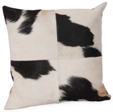 KUH Square Black&White Cow Hide Pillow