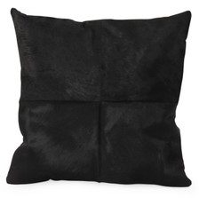 OX Square Black Cow Hide Pillow