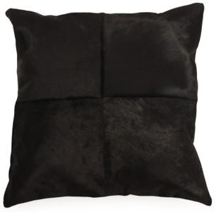 OX Square Black Cow Hide Pillow