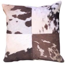 VACHE Brown Cow Hide Pillow