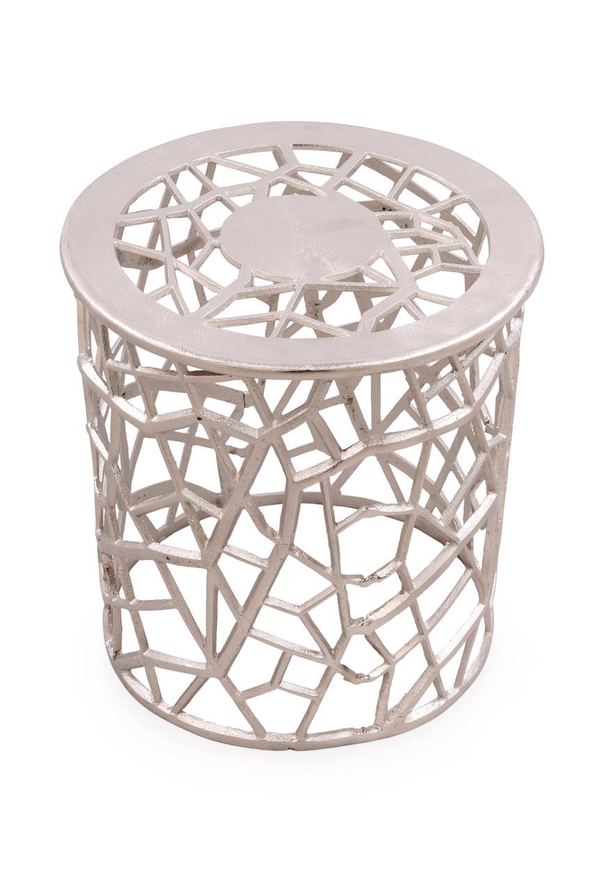 - Silver Filigree Metal Table JEWEL