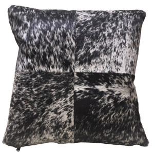 HOLSTEIN black & white cow hide pillow. Double sided.