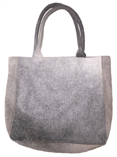 Luxurious Tote Bag DELIA in Elegant Grey Cowhide