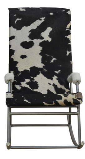 HOLDEN Cowhide Rocking Chair