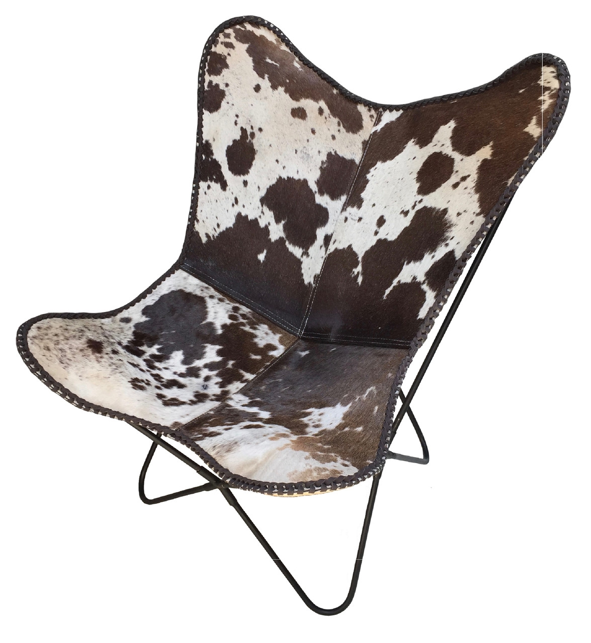 Surprising Graf Butterfly Chair In Brown And White Cowhide On Sale Squirreltailoven Fun Painted Chair Ideas Images Squirreltailovenorg