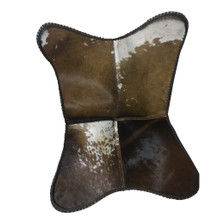 Butterfly Chair GRAF in Brown and White Cowhide - Hide variation