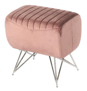 Rectangular Velvet Accent Stool ROSE