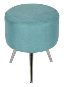 LOLA Three-legged Velvet Stool