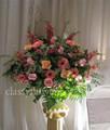 Medium size sympathy flower arrangement $95