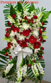 Sympathy Flower Standing Spray Red And White Flowers