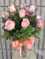 Dozen Medium Stem Roses in a Vase