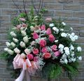 Basket With Roses And Lilies
