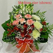 Medium size flower arrangement