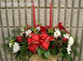 Holiday Centerpiece Red And White Flowers