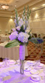 Table Centerpiece For Wedding Reception With Mixed Flowers