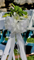 Pew Bow White Tulle And Satin With Oriental Lilies