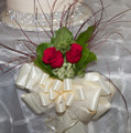 Pew Bow With Cluster Of Roses