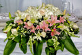 Head Table Centerpiece Pink Lilies And Hydrangea