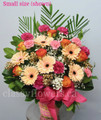Traditional Tribute Flower Arrangement With Gerberas