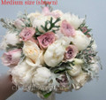 White Peony And Dusty Pink Roses Bridal Bouquet