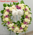 Sympathy Standing Open Heart With Mixed Flowers