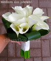 Hand Tied  Bridal Bouquet With White Large Calla Lilies