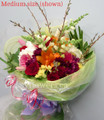 Round Bouquet With Bright Mixed Flowers