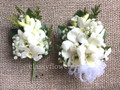 Corsage And Boutonniere Set For Prom With White Orchids