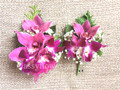Corsage And Boutonniere Set For Prom With Purple Orchids
