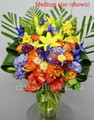 Hugs And Kisses Arrangement With Spring Flowers
