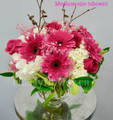 Harmony Vase Arrangement With Roses And Gerberas