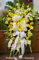 Standing Spray With Yellow And White Flowers