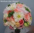 Bridal Bouquet With Garden Roses And Dahlias