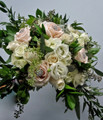 Bridal Bouquet With  Roses, Eucalyptus Garden Style