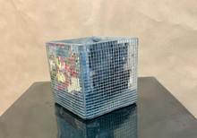 Square mirror mosaic ceramic vase