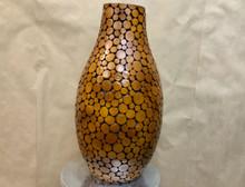 Natural wood floor vase