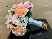 Artificial mixed flowers bridal bouquet