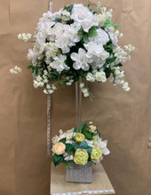 Artificial flowers tall table centerpiece