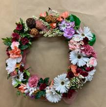 Artificial flowers sympathy door wreath