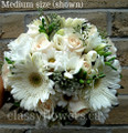 White Gerbera And Roses Bridal Bouquet