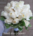 Ivory Roses And Stephanotis Bridal Bouquet
