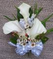Mini White Calla Lilies Wrist Corsage