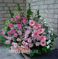 Medium sympathy flower basket for her $109