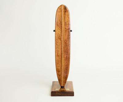 Model surfboard, deck side