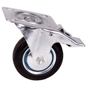 CASTOR 4IN. SWIVEL W/BRAKE CAPACITY 65KG