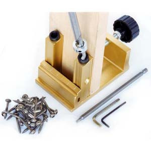 POCKET HOLE JIG KIT W/DRILL BIT AND SCREWS