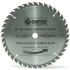 BLADE 8IN. X 40T ATB CRAFTEX