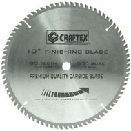 BLADE 10IN. X 80T FLAT TOP CRAFTEX
